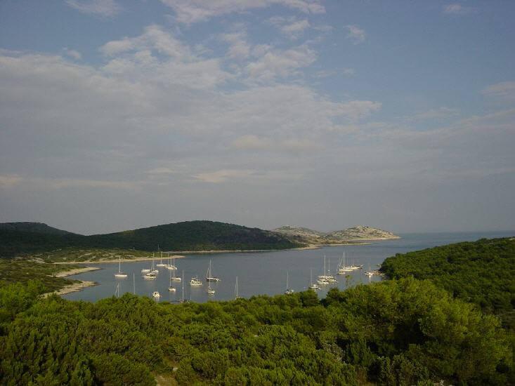 Große Bucht in Dalmatien